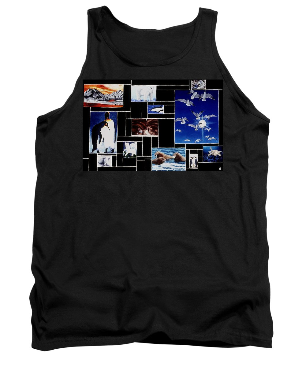 Acrylic Painting Tank Top featuring the painting Valdez Spring by Karen Buford