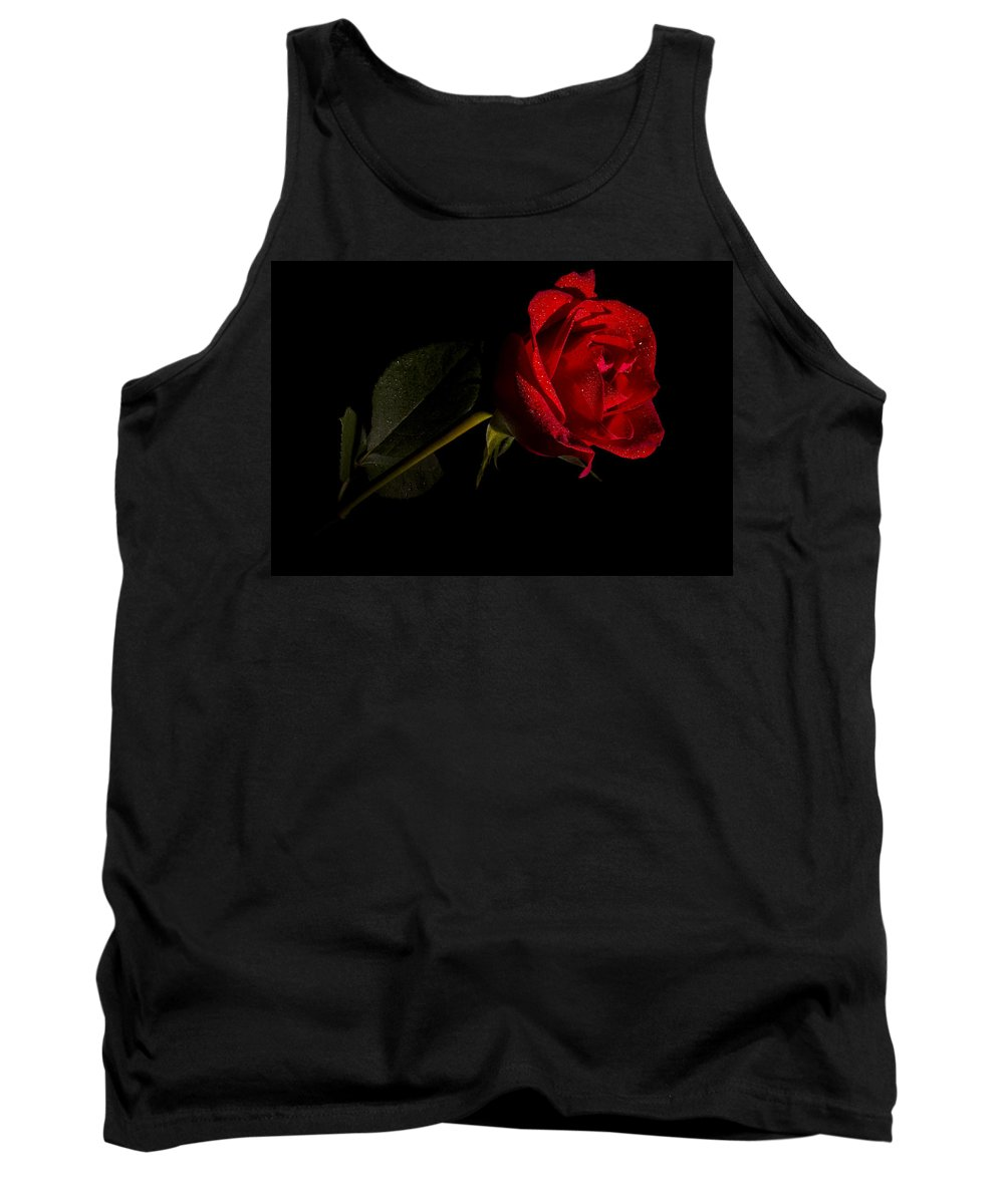 Flowers Tank Top featuring the photograph Valentine's Day Velvet Rose by Eduard Moldoveanu