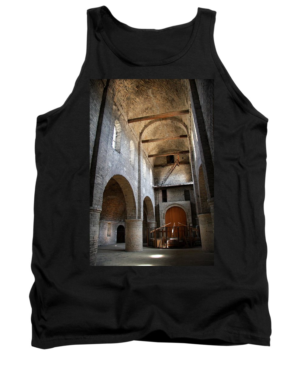 Vault Tank Top featuring the photograph Vaulted Roof St Philibert - Tournus by Christiane Schulze Art And Photography