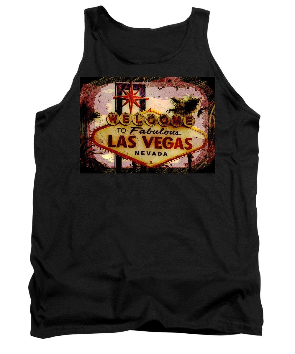 Las Vegas Tank Top featuring the photograph Vegas Destructed by Ryan Burton