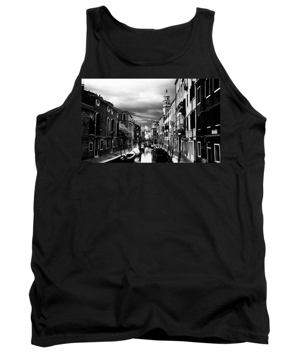 Venice Tank Top featuring the photograph Venice Side Canal by David Resnikoff
