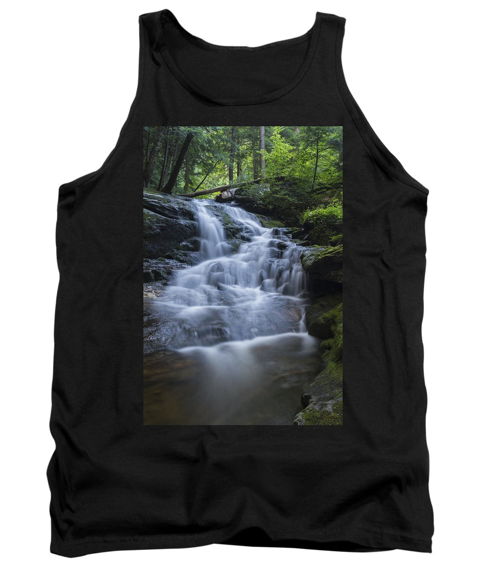 Vermont Tank Top featuring the photograph Vermont New England Waterfall Green Trees Forest by Andy Gimino