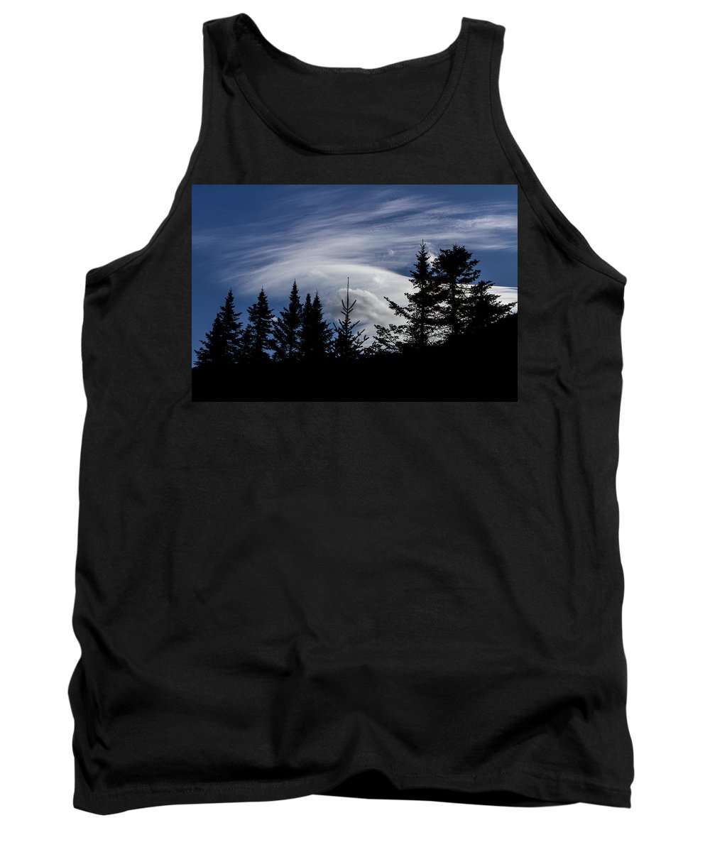 Vermont Tank Top featuring the photograph Vermont Tree Silhouette Clouds Cloudscape by Andy Gimino