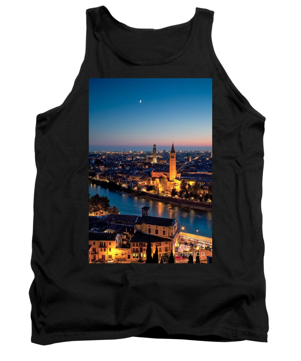 Autumn Tank Top featuring the photograph Verona At Sunset by Matteo Colombo