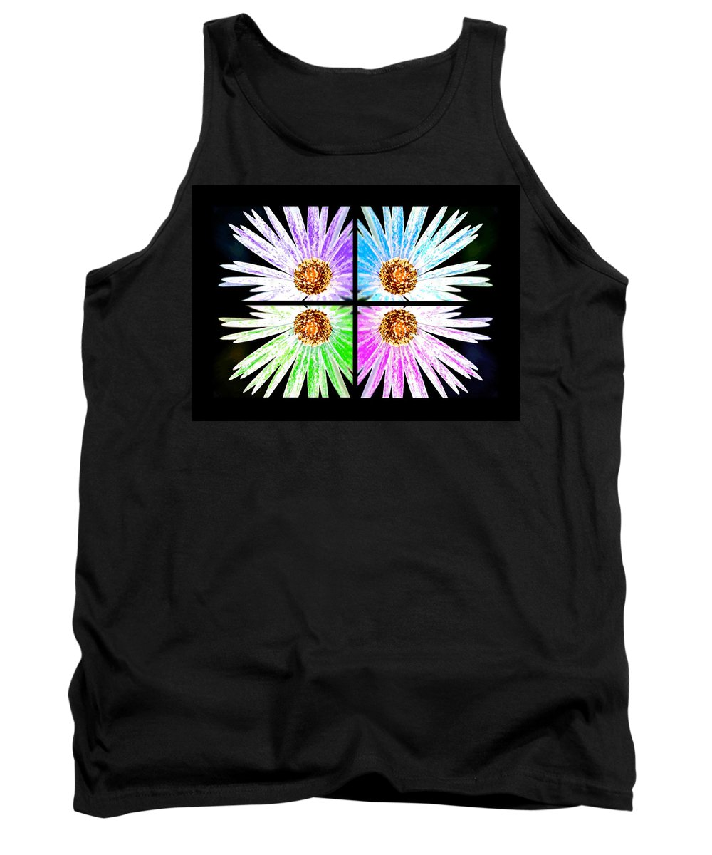 Flower Tank Top featuring the painting Vexel Flower Collage by Bruce Nutting