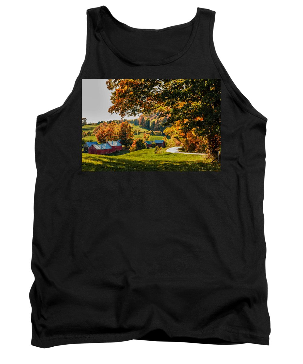 #jefffolger Tank Top featuring the photograph View From The Hill by Jeff Folger
