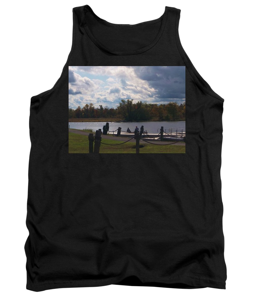 Catskill Point Tank Top featuring the photograph View Of The Creek From Catskill Point by Ellen Levinson