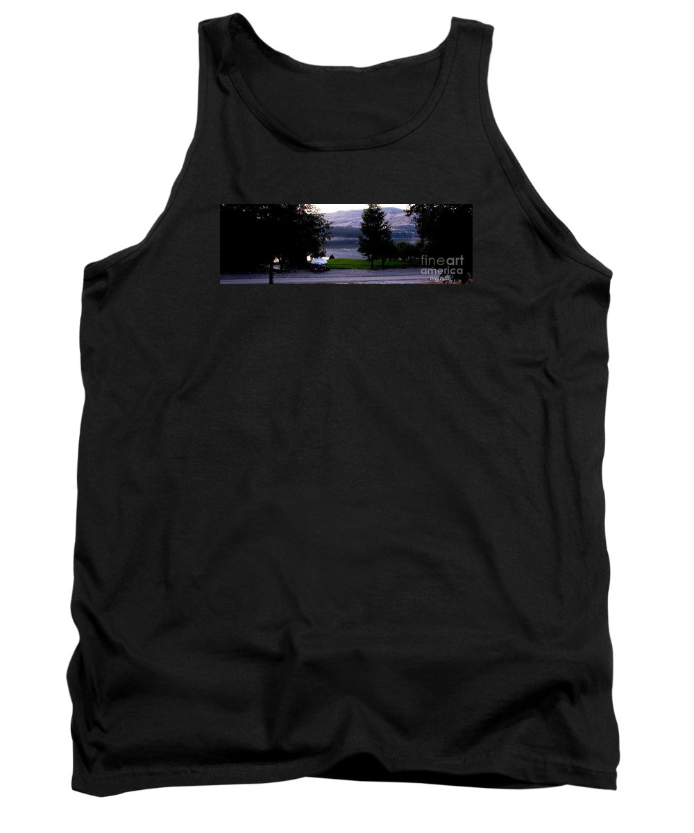 Art For The Wall...patzer Photography Tank Top featuring the photograph View To Columbia by Greg Patzer