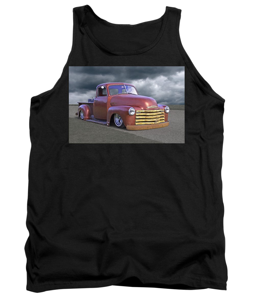 Chevrolet Truck Tank Top featuring the photograph Vintage Chevy 1949 by Gill Billington