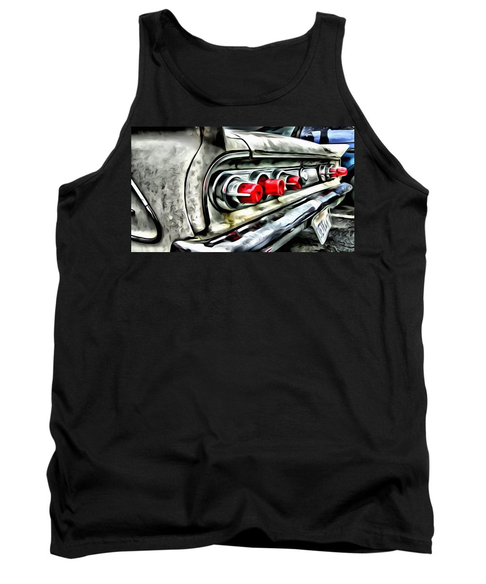 Car Tank Top featuring the painting Vintage Pontiac Taillights by Florian Rodarte