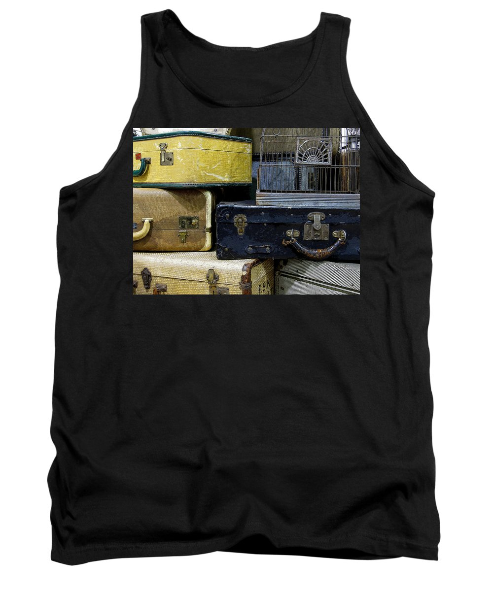 Suitcase Tank Top featuring the photograph Vintage Suitcase by Rebecca Renfro