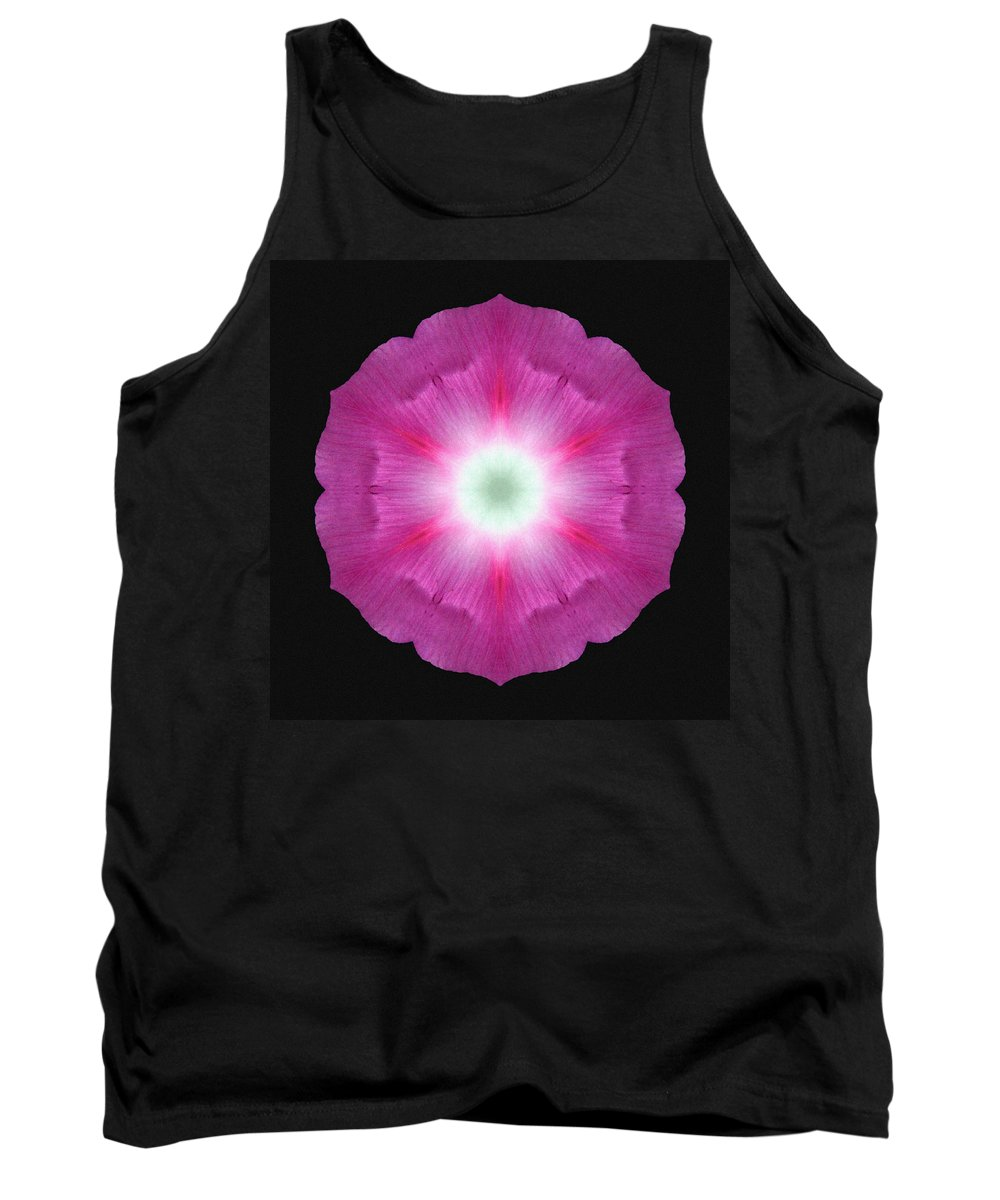 Flower Tank Top featuring the photograph Violet Morning Glory Flower Mandala by David J Bookbinder