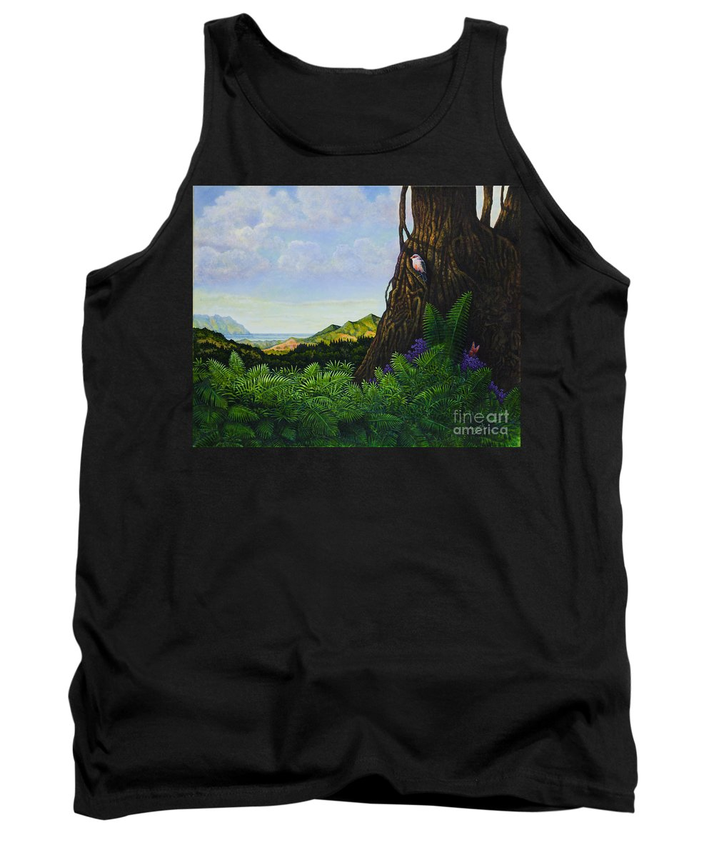 Paradise Hawaii Tank Top featuring the painting Visions Of Paradise V by Michael Frank