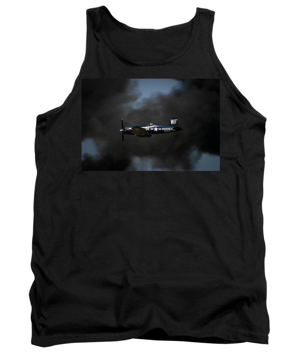 3scape Tank Top featuring the photograph Vought F4u Corsair by Adam Romanowicz