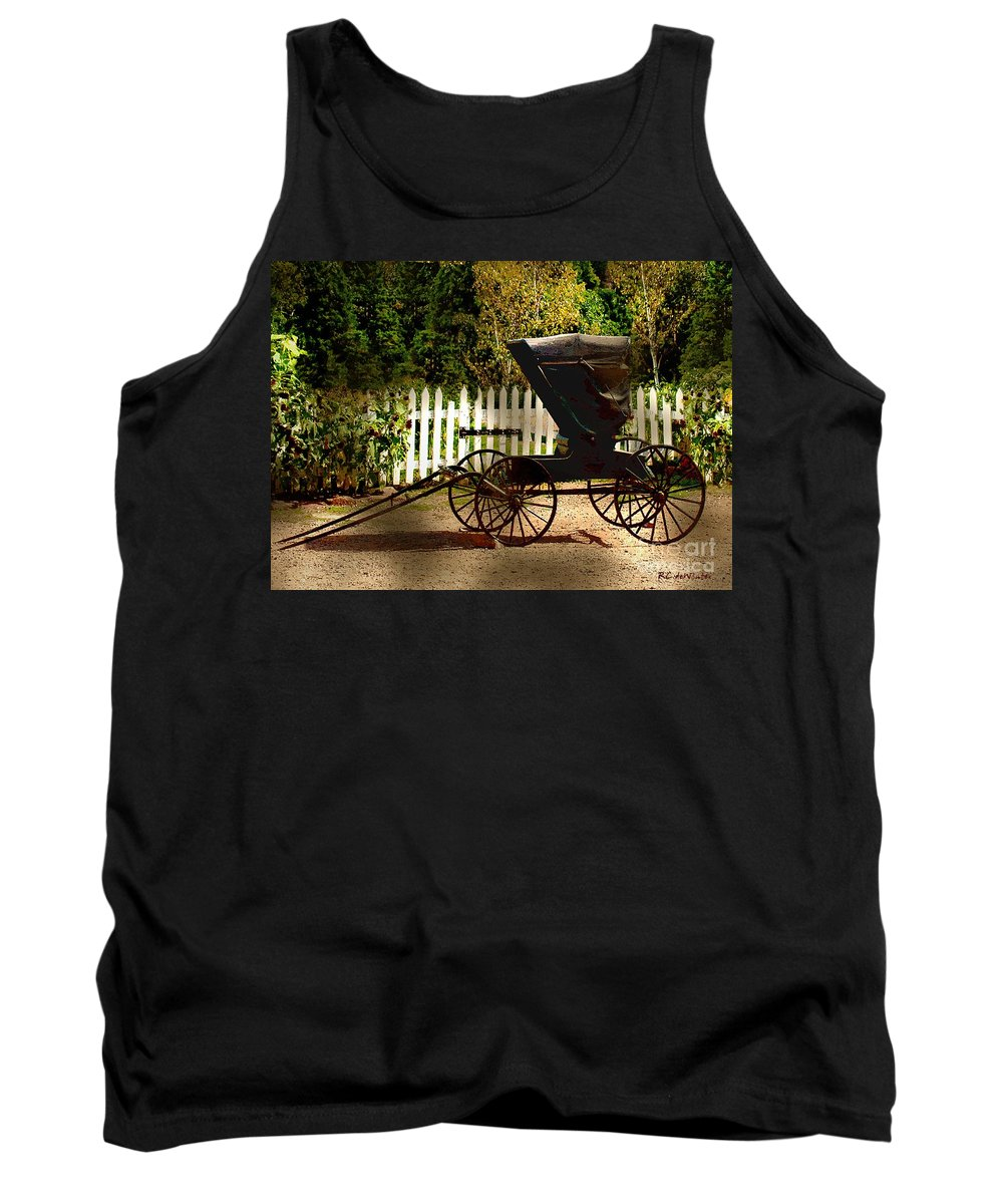 Amish Tank Top featuring the painting Waiting For The Mare by RC DeWinter
