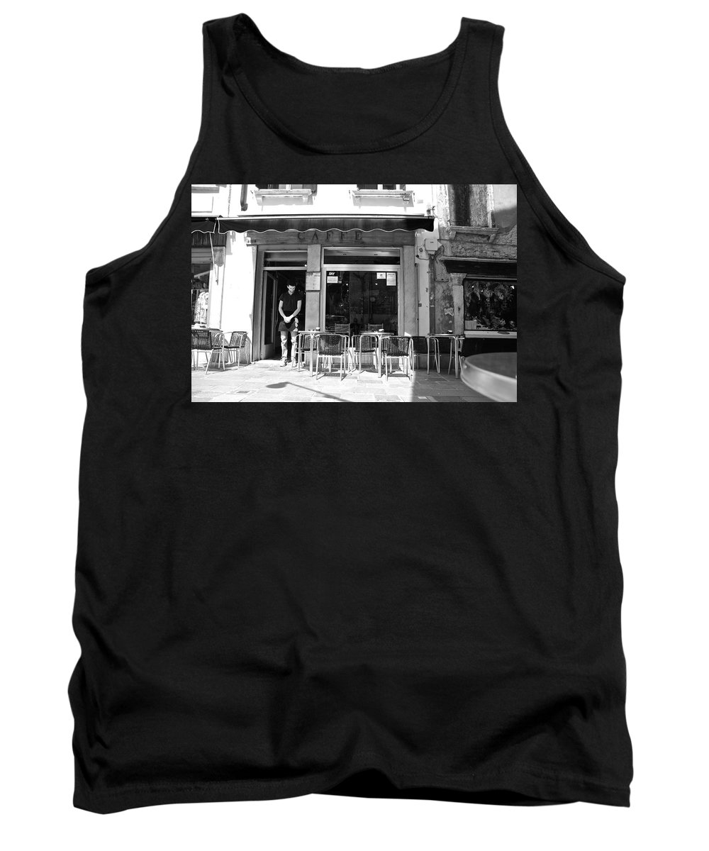 Retaurant Tank Top featuring the photograph Waiting Tables by Eric Tressler