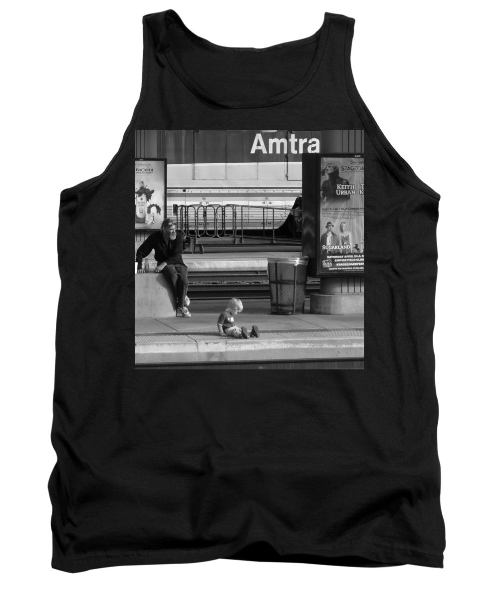 Union Station Los Angeles.  Tank Top featuring the photograph Waiting Union by Jennifer Ann Henry
