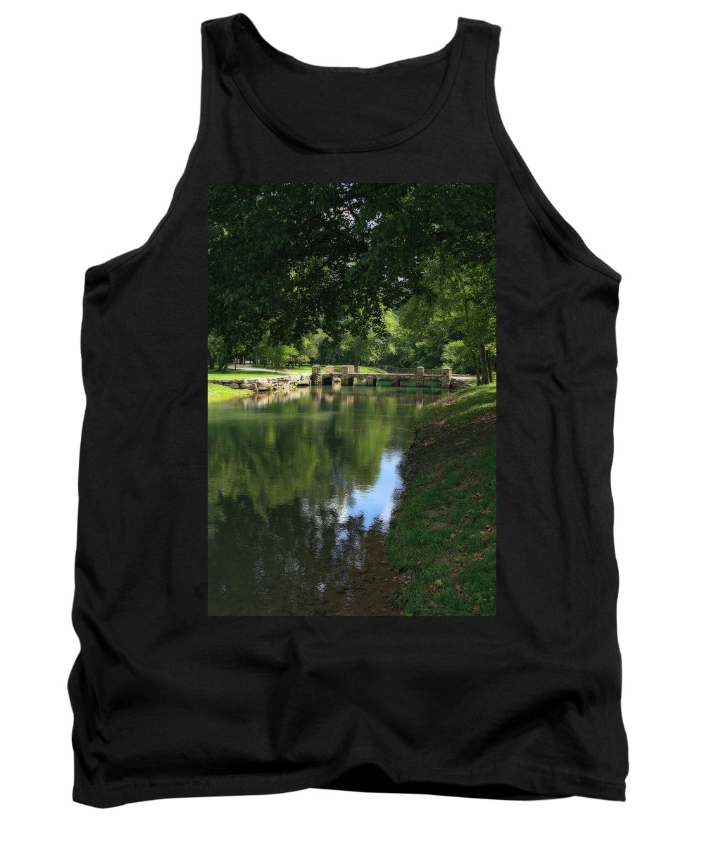 Photo Frames Tank Top featuring the photograph Walking Bridge by CE Haynes