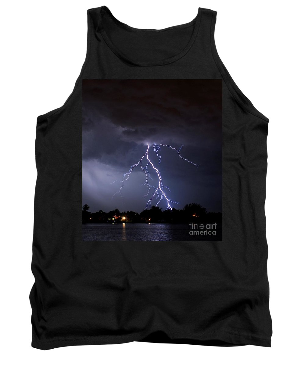Powerful Tank Top featuring the photograph Walking In The Rain by Quinn Sedam