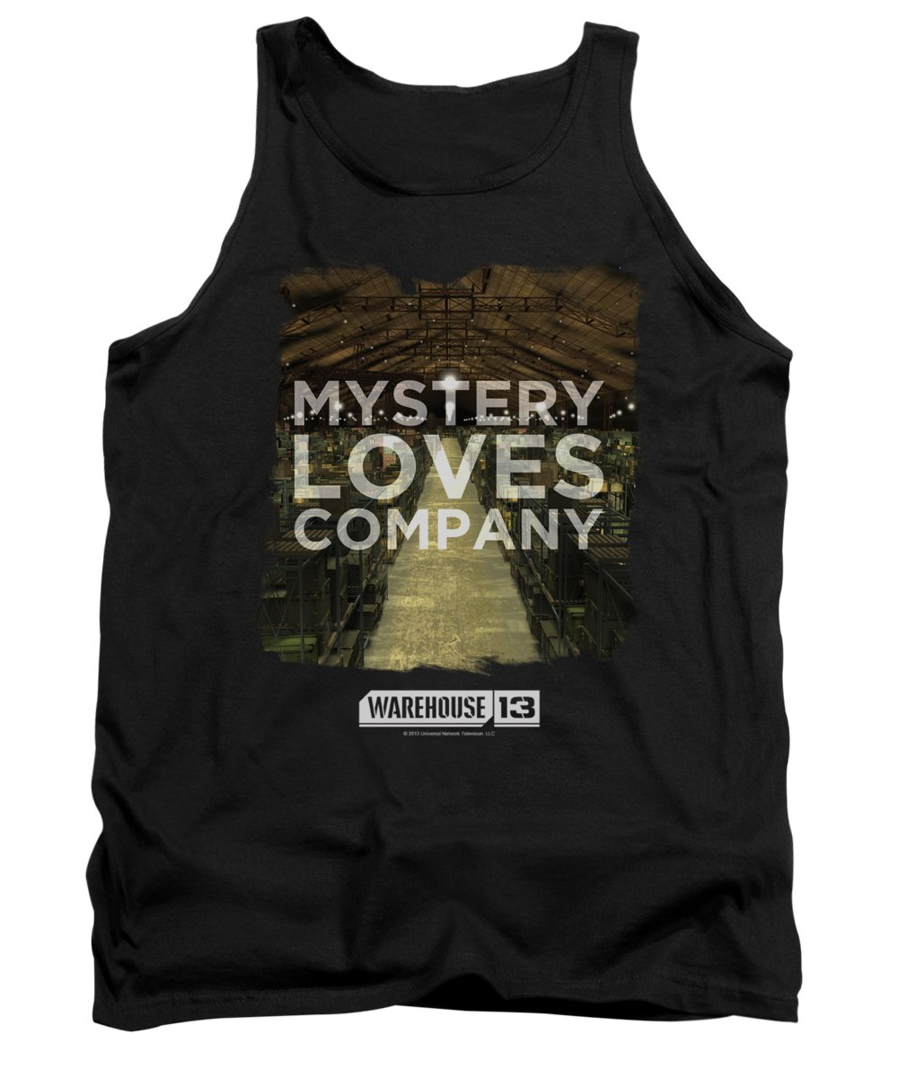 Warehouse 13 Tank Top featuring the digital art Warehouse 13 - Mystery Loves by Brand A
