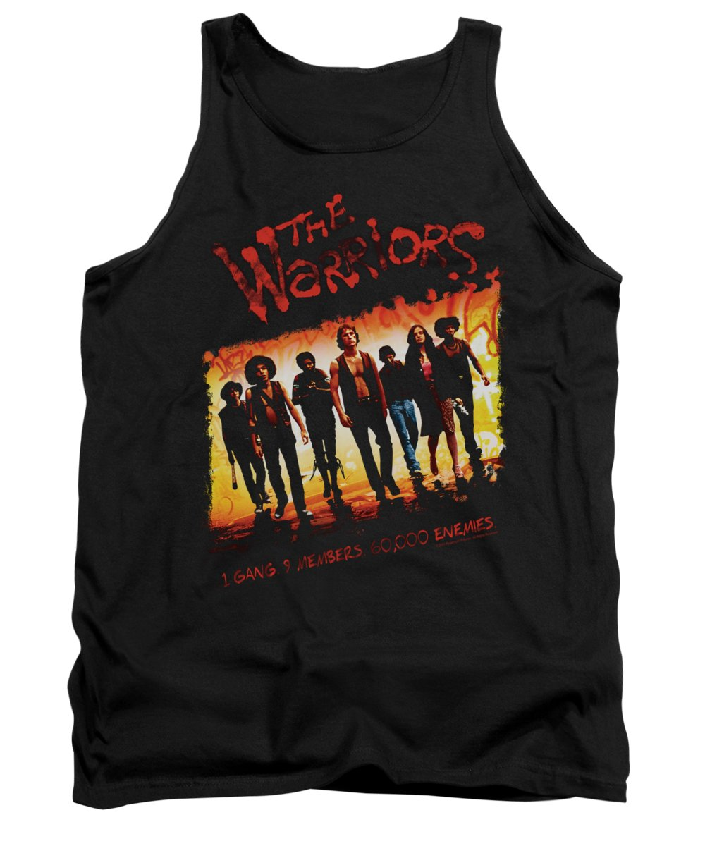 The Warriors Tank Top featuring the digital art Warriors - One Gang by Brand A
