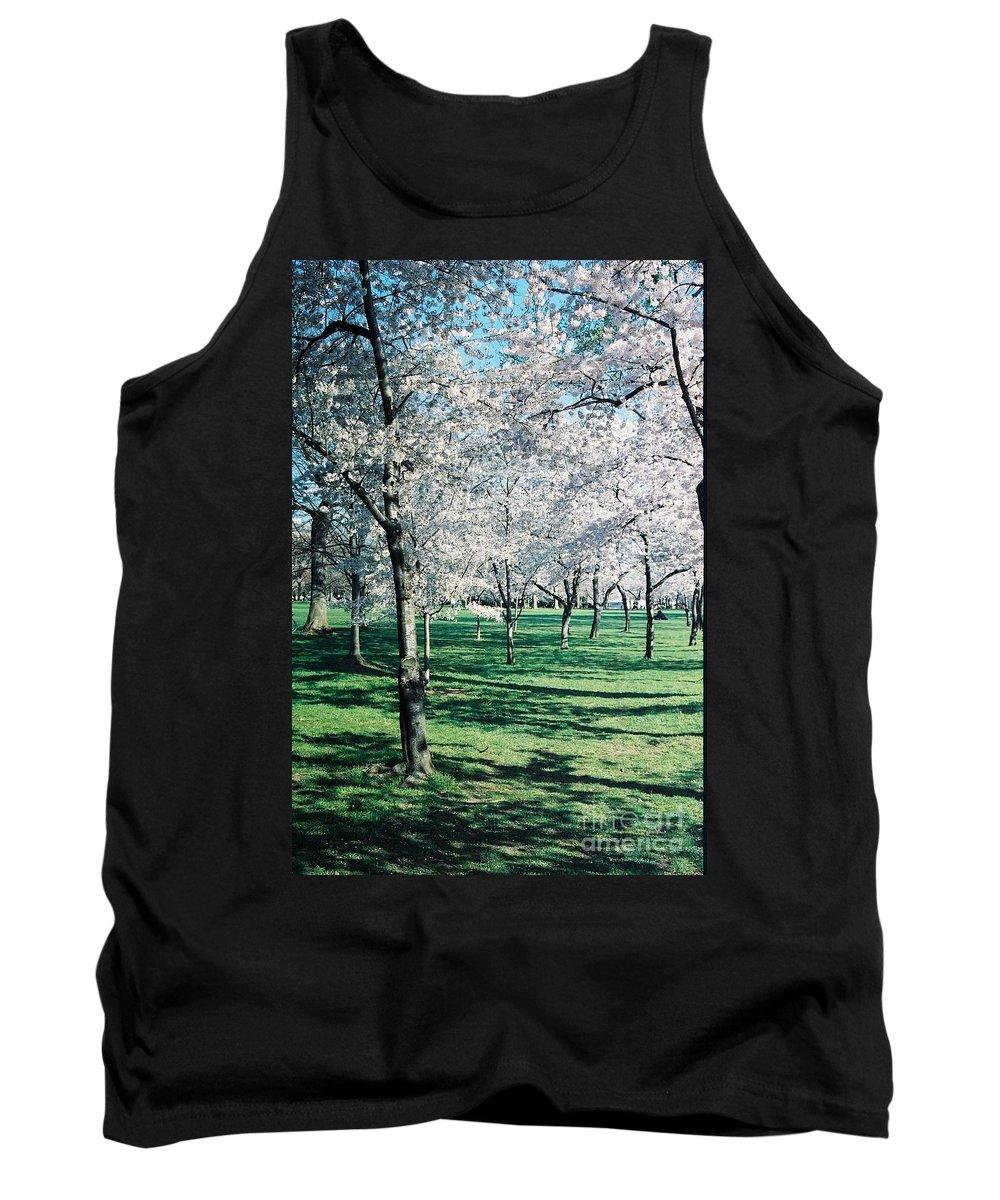 Washington Dc Tank Top featuring the photograph Washington Dc Cherry Blossoms by Eric Schiabor