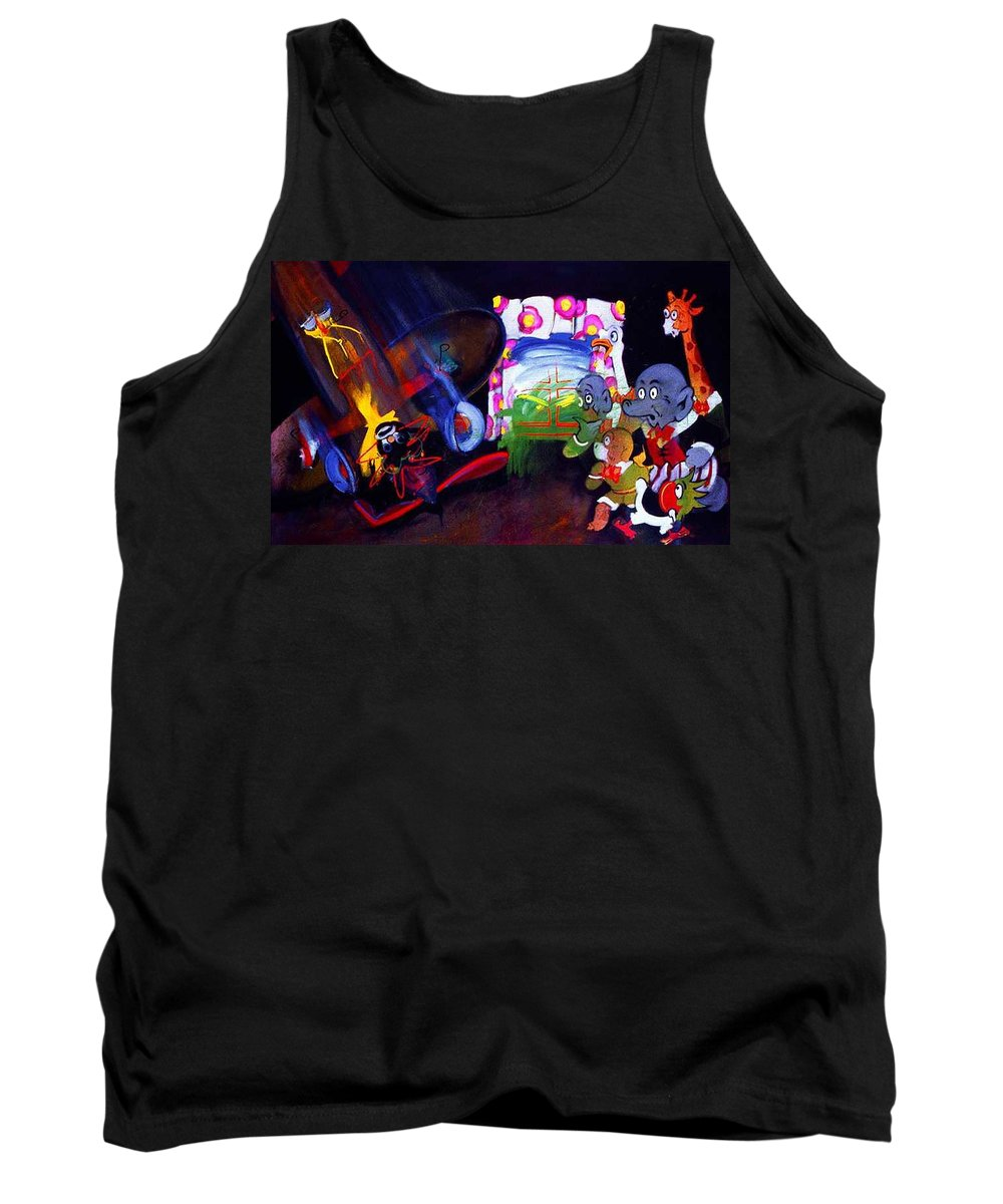 Cartoon Tank Top featuring the painting Watch With Mother by Charles Stuart