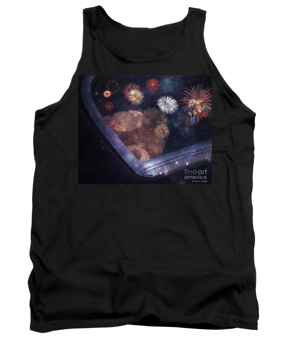 Bear Tank Top featuring the photograph Watching Fireworks by Bobbee Rickard