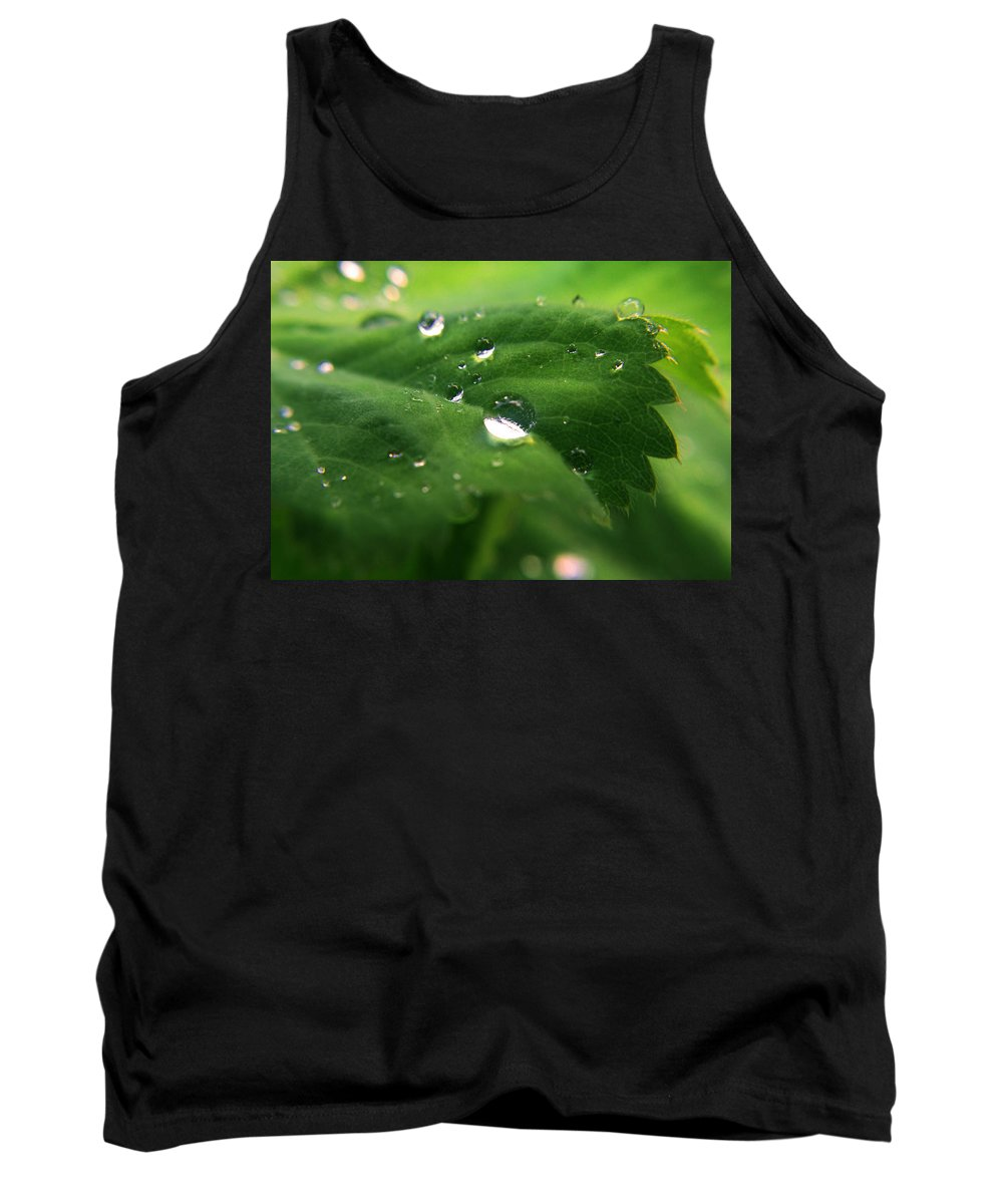 Nature Tank Top featuring the photograph Water Diamonds by Alex Art and Photo