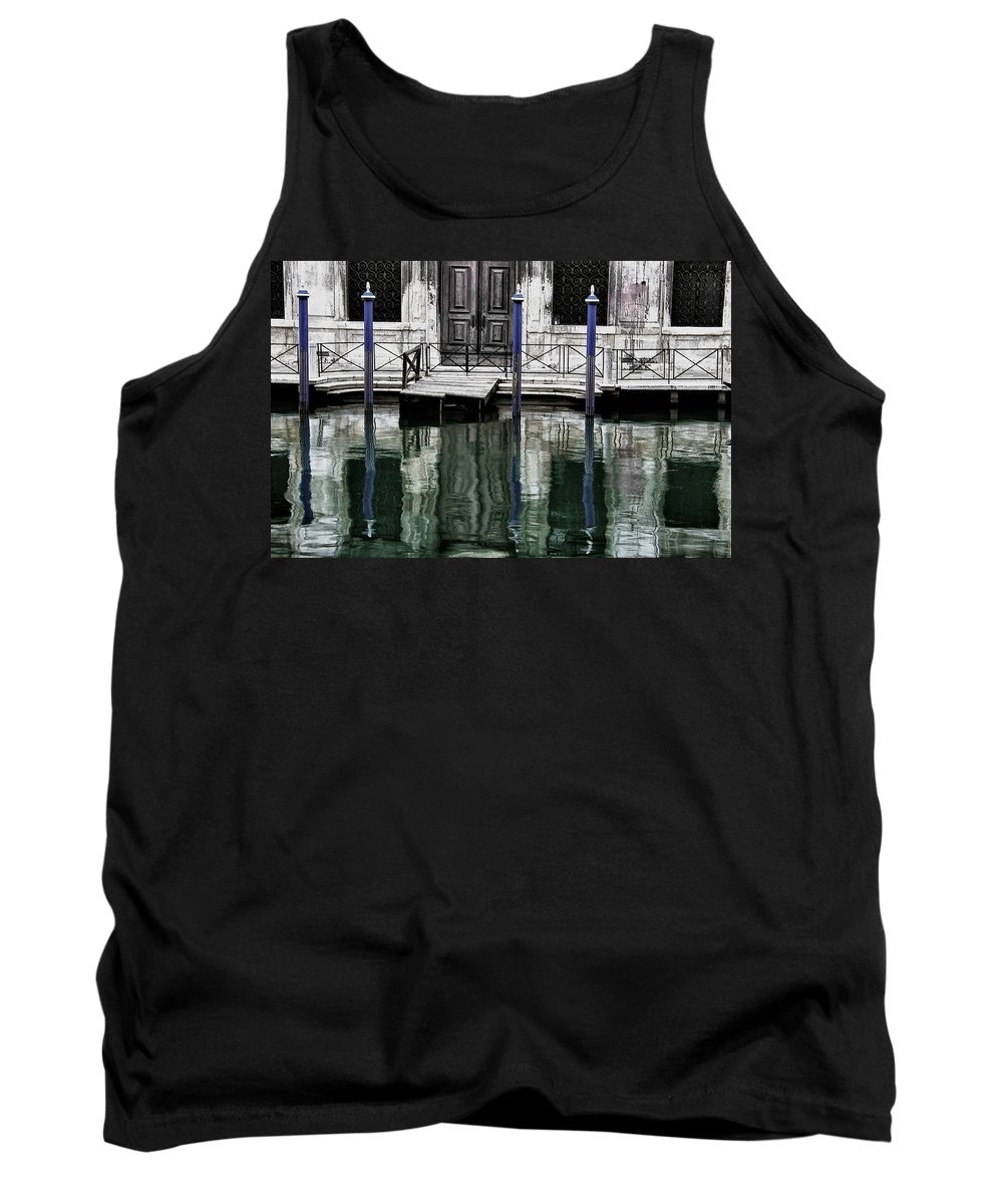 Venice Tank Top featuring the photograph Water Parking by David Resnikoff