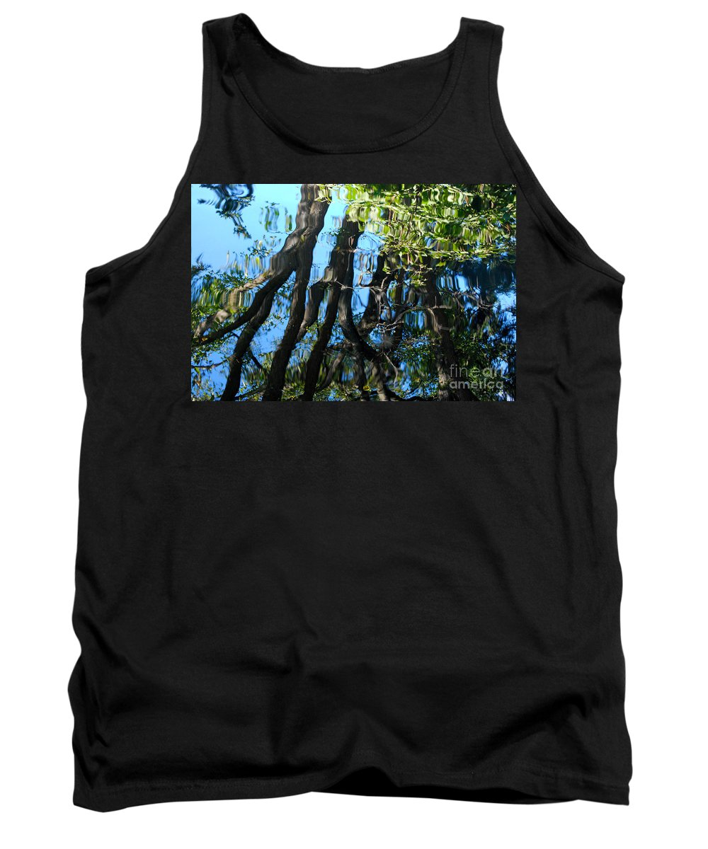 Pond Tank Top featuring the photograph Water Reflections 3 by Nancy Mueller