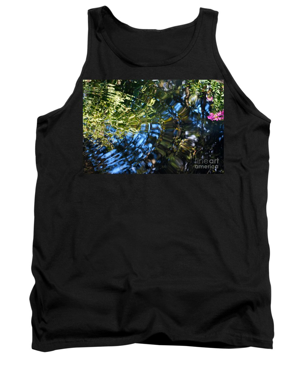Pond Tank Top featuring the photograph Water Reflections 4 by Nancy Mueller