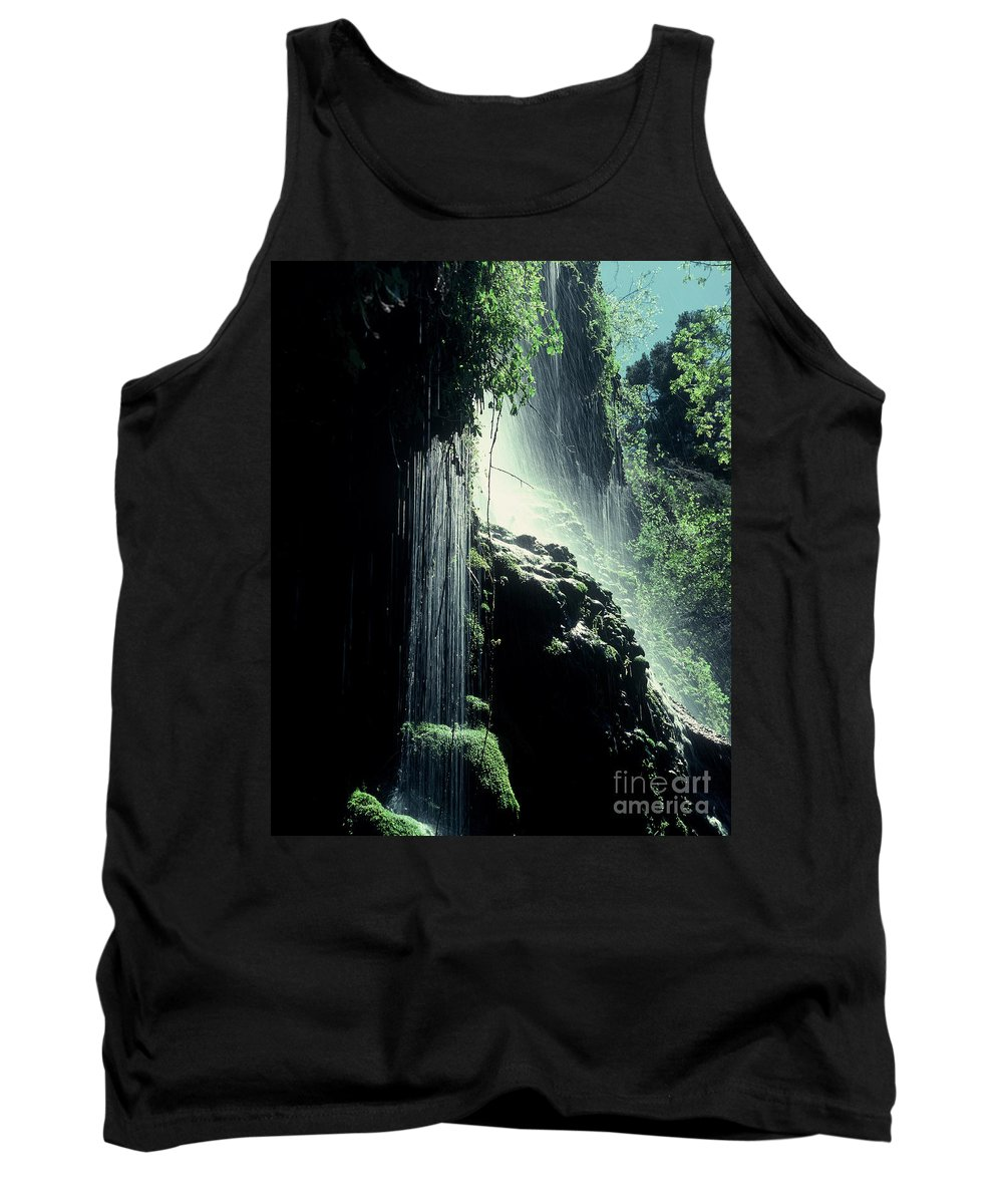 Water Tank Top featuring the photograph Waterfall At Tonto Natural Bridge by Judy Bottler