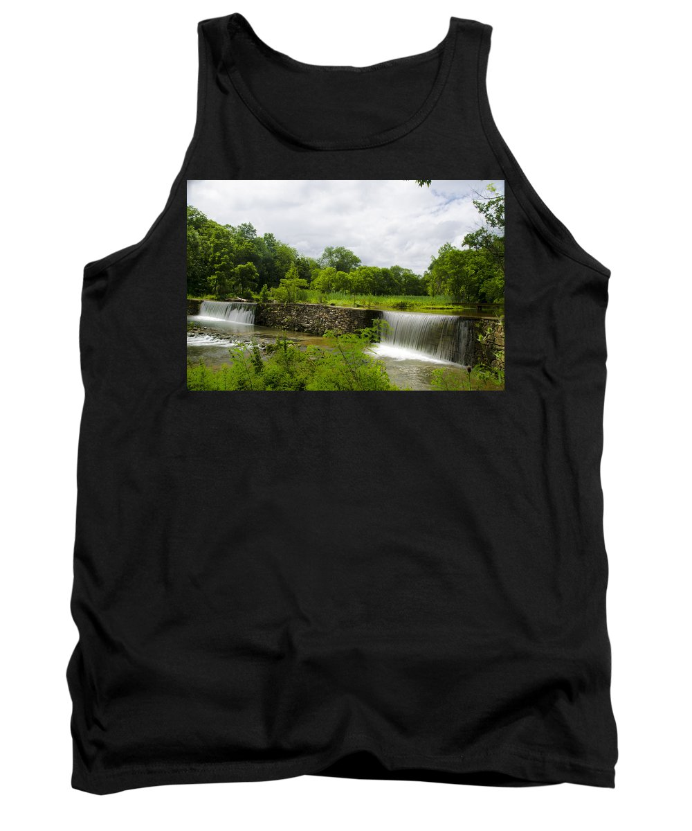 Waterfall Tank Top featuring the photograph Waterfall At Valley Creek Near Valley Forge by Bill Cannon