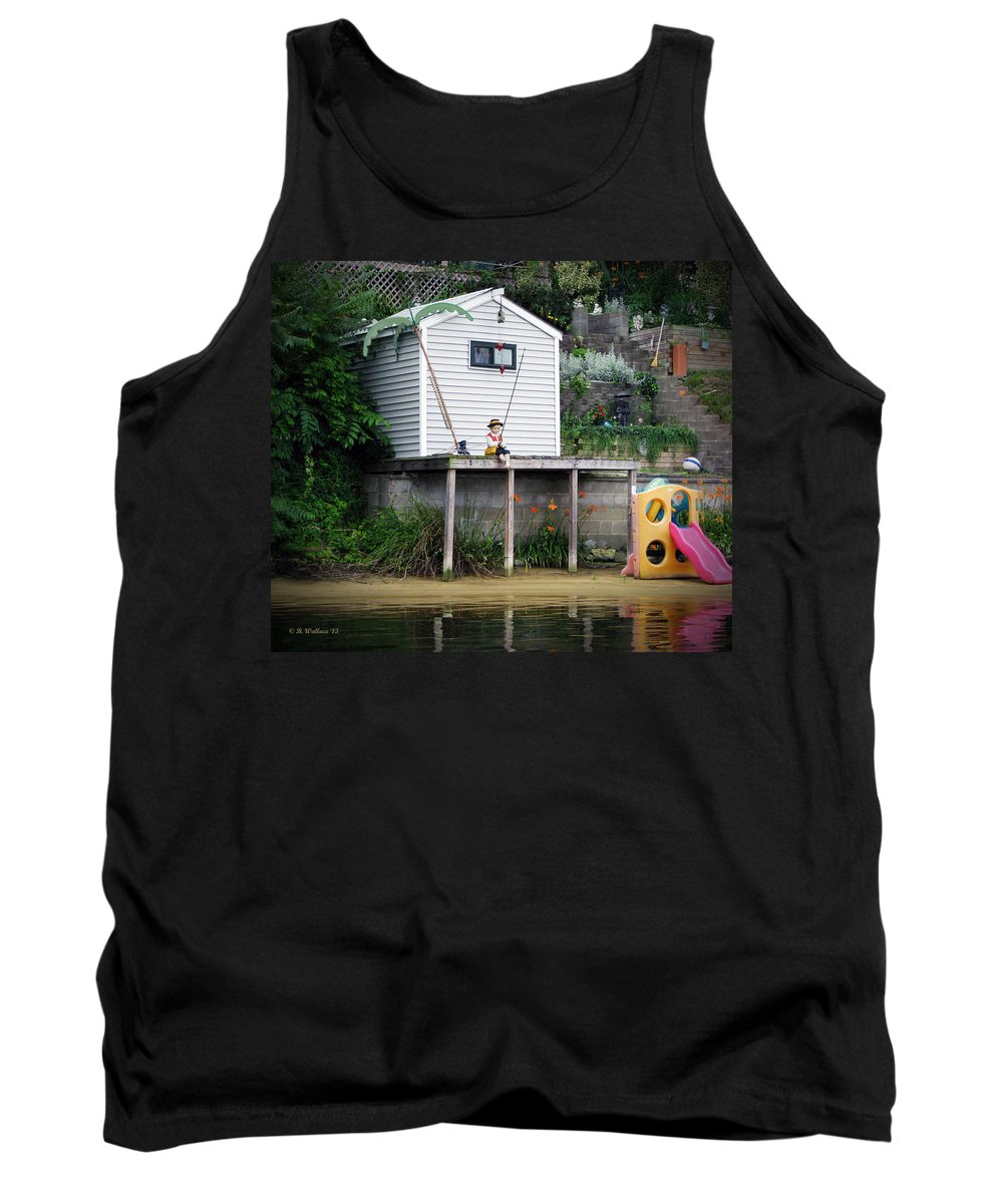 2d Tank Top featuring the photograph Waterfront Decor by Brian Wallace