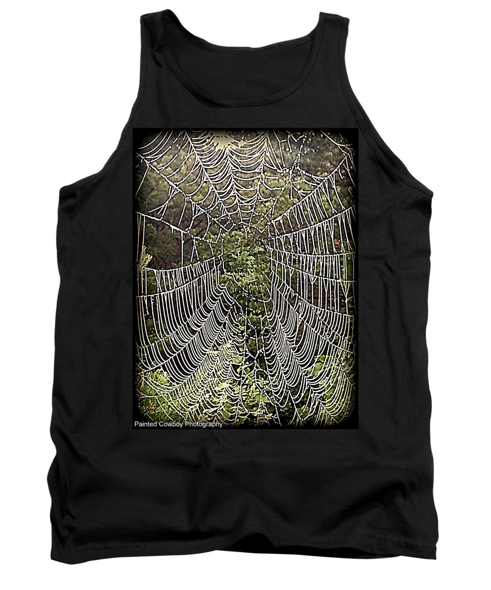 Web Tank Top featuring the photograph Web2hdr by Daniel Jakus