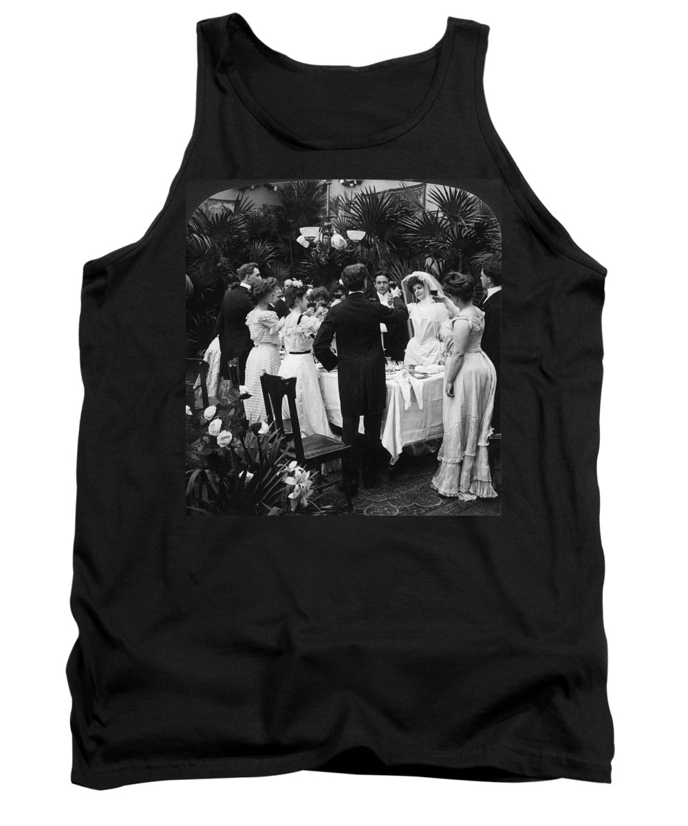 1904 Tank Top featuring the photograph Wedding Party, 1904 by Granger
