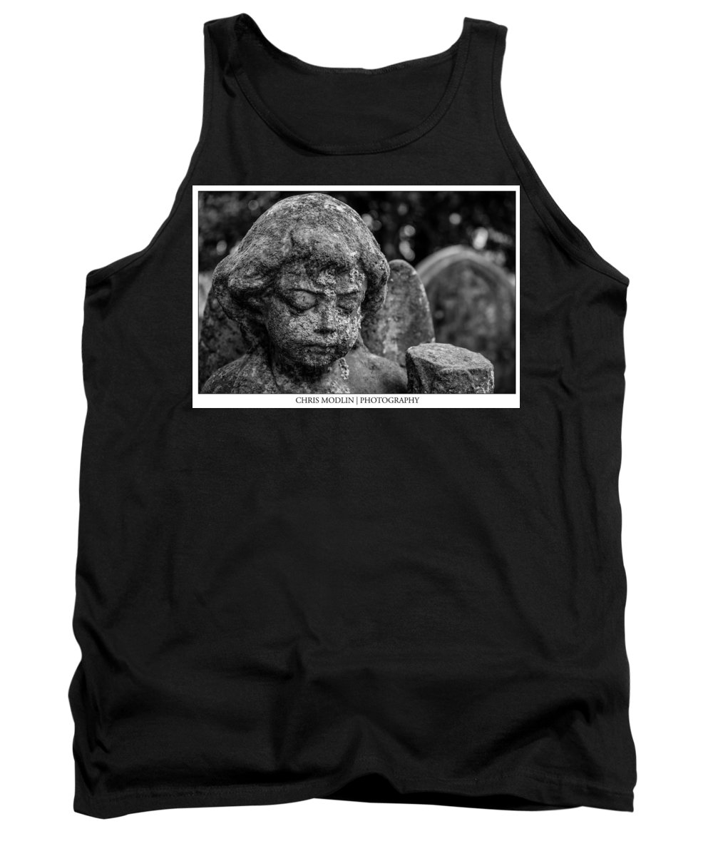 Black And White Tank Top featuring the photograph Weeping Angel by Chris Modlin