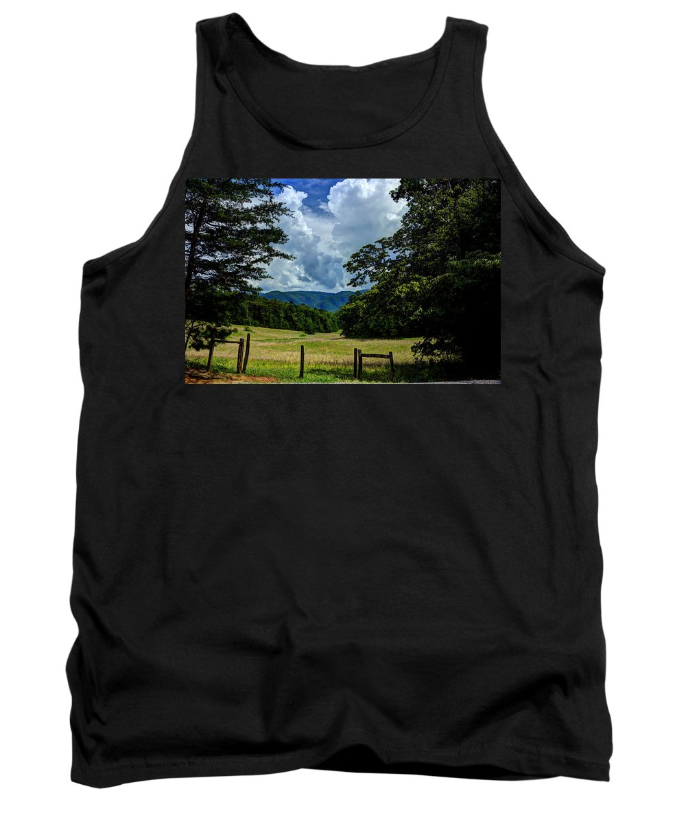 Cades Cove Tank Top featuring the photograph Welcome To The Smokies by Michael Eingle