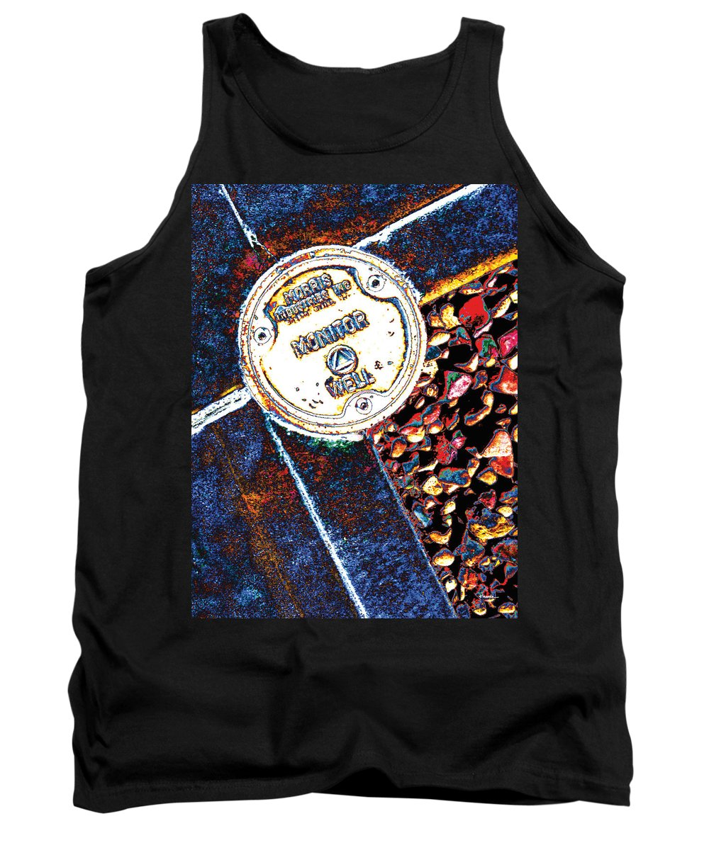 Abstract Tank Top featuring the digital art Well Monitor by James Kramer