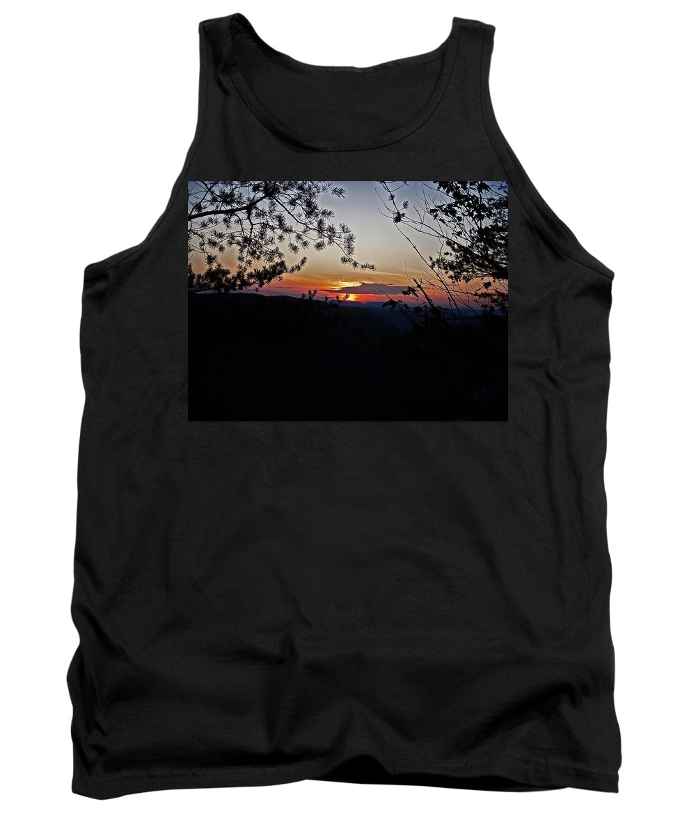 Sunset Tank Top featuring the photograph West Virginia Sunset 2 by Aimee L Maher ALM GALLERY