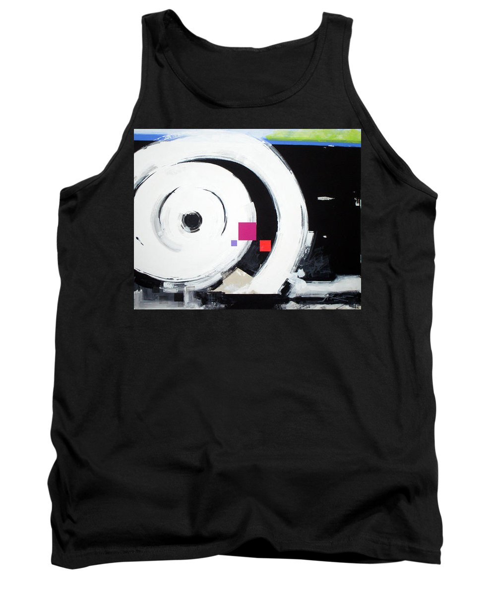 Abstract Tank Top featuring the painting Wheel of Fortune by Jean Pierre Rousselet