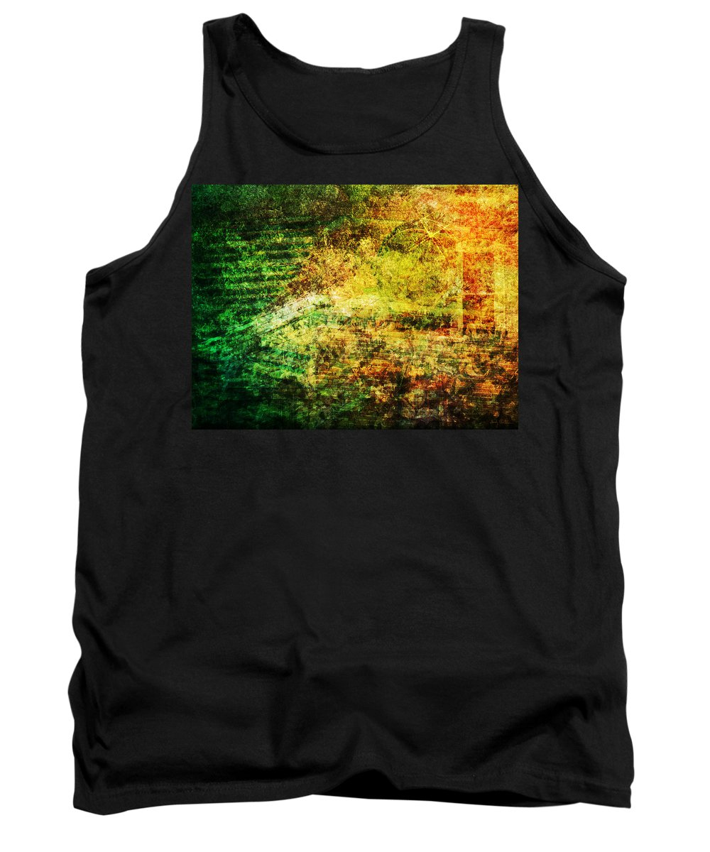 Abstract Tank Top featuring the mixed media When Past and Present Intersect #1 by Sandy MacGowan