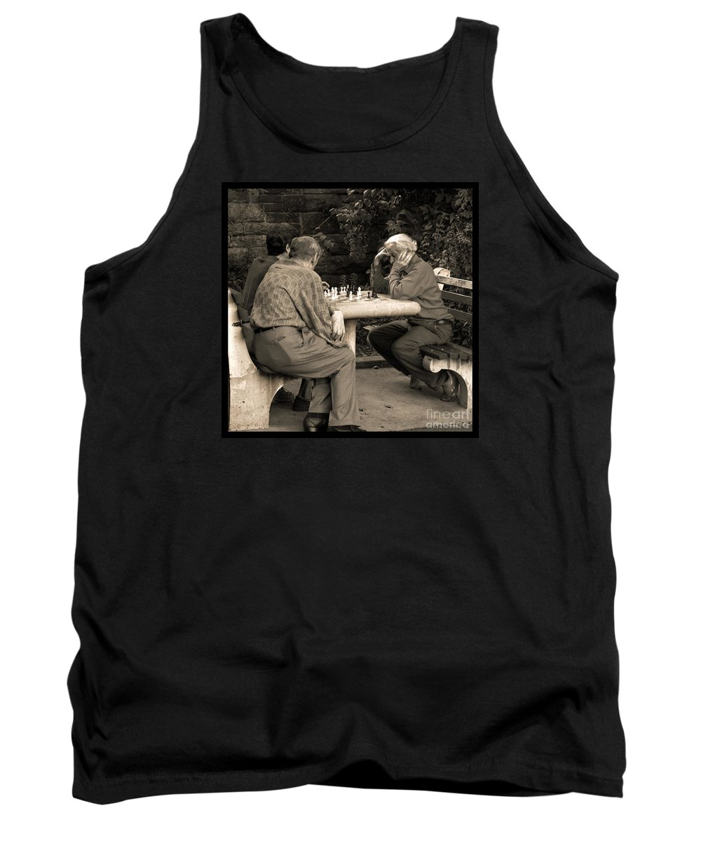 Friends Tank Top featuring the photograph Where Is Bobby Fischer by Madeline Ellis