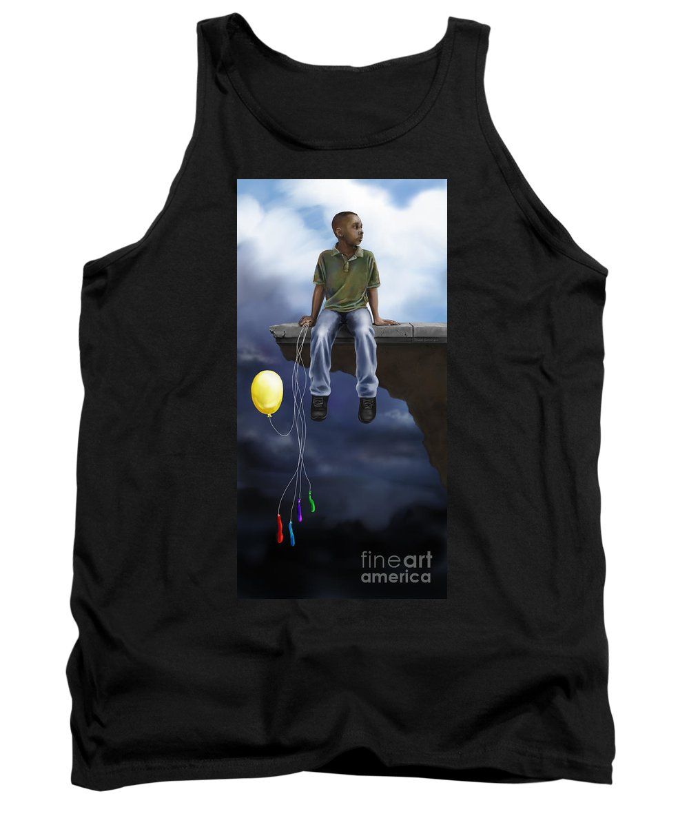 Dwayne Glapion Tank Top featuring the digital art Where The Sidewalk Ends by Dwayne Glapion