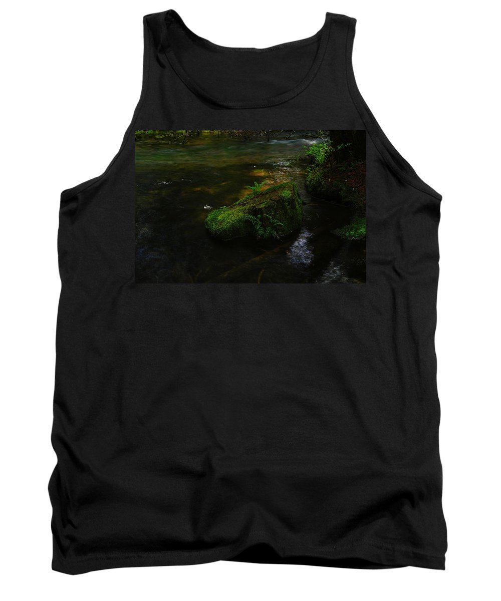 Water Tank Top featuring the photograph Where The Water Is As Slow As Tranquility by Jeff Swan