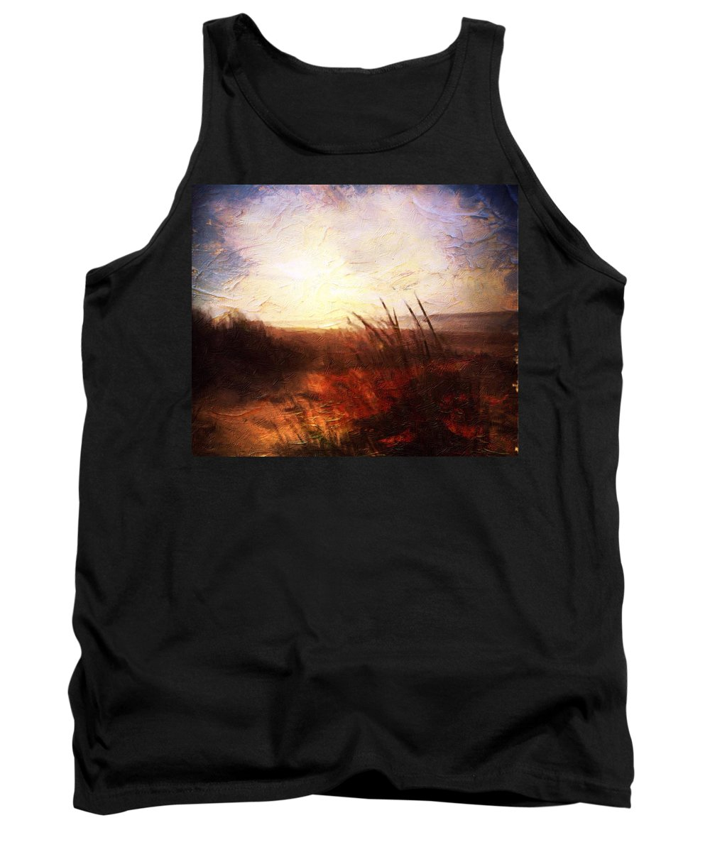Shores Tank Top featuring the painting Whispering Shores By M.a by Mark Taylor