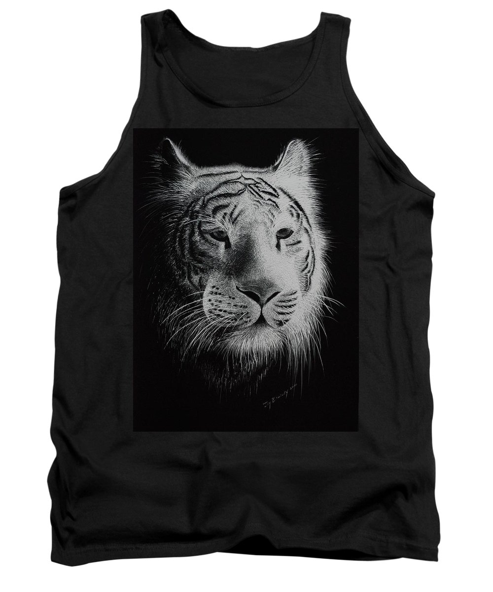 Greeting Cards Tank Top featuring the painting White Bengal Tiger by Joy Bradley