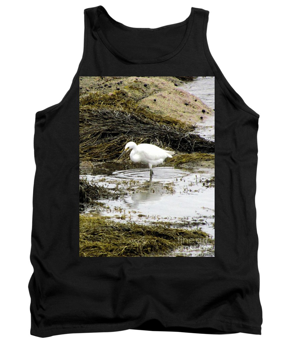 White Egret Tank Top featuring the photograph White Egret by Elizabeth Dow