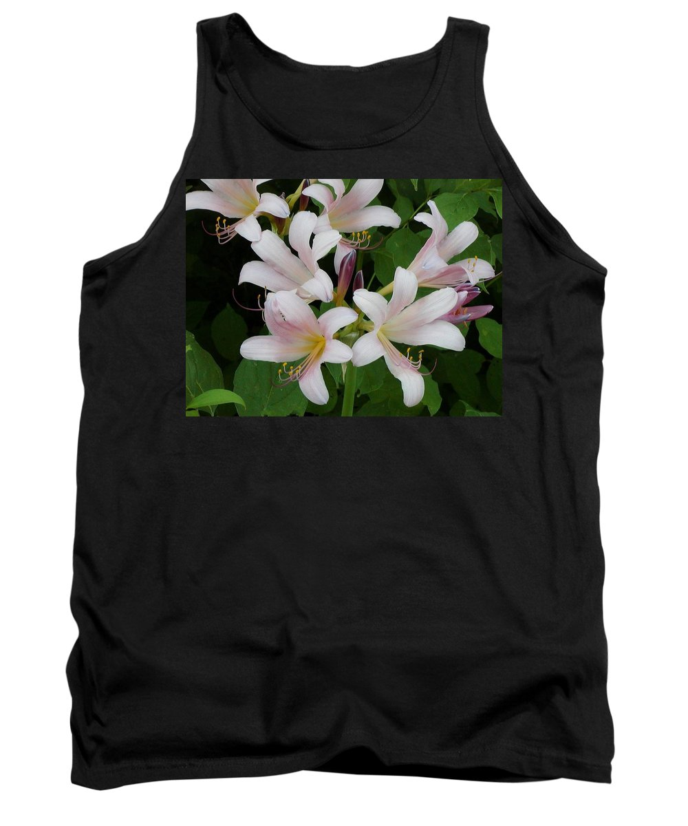 White Tank Top featuring the photograph White Flowers 1 by By Tara